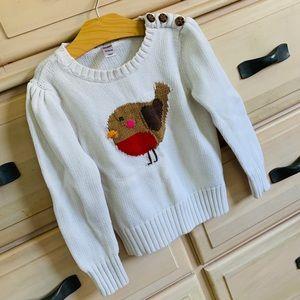 Bird sweater with button detail